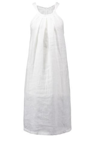 120% Lino Sukienka letnia white