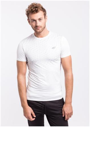 Koszulka treningowa męska TSMF003z - biały