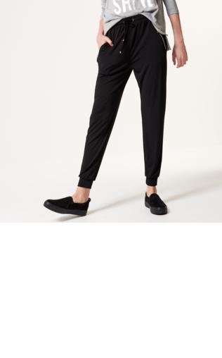 Mohito - Luźne spodnie ze ściągaczem - Czarny