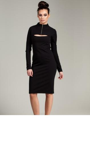 Sukienka ołówkowa z zasuwanym golfem