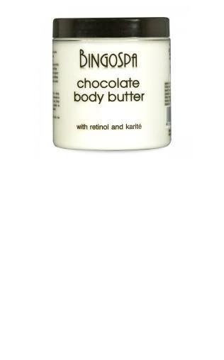 BRĄZUJĄCE OPALANIE Czekoladowe masło do ciała z kofeiną, karite i retinolem BingoSpa slim & strong
