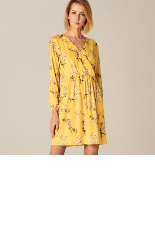 Mohito - Sukienka w kwiaty - Żółty