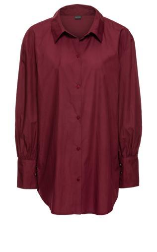 Koszula z dużymi mankietami, oversize bonprix czerwony klonowy