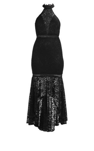 Love Triangle BEHOLD HIGHLOW MAXI DRESS Sukienka koktajlowa black