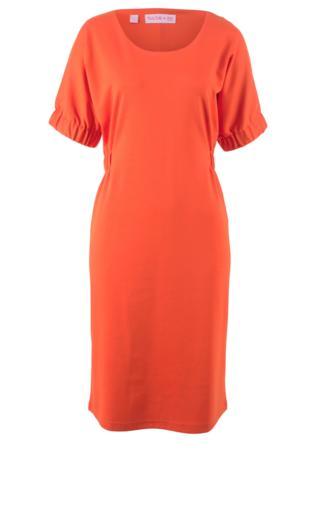 Sukienka shirtowa z rękawami typu nietoperz, z kolekcji Maite Kelly bonprix mandarynkowo-czerwony