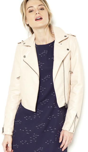 Granatowy płaszcz z paskiem - Patrizia Aryton