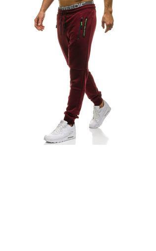 a2036b832e7f Bordowe Spodnie Dresowe Comfy Spodnie dresowe -  Shoperia  Renee