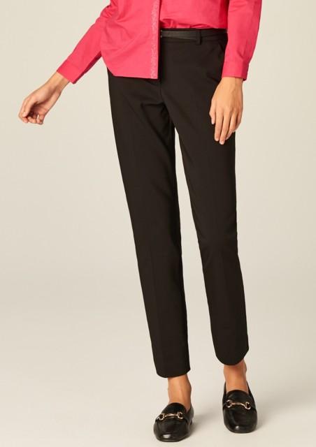 Spodnie cygaretki bonprix czarny