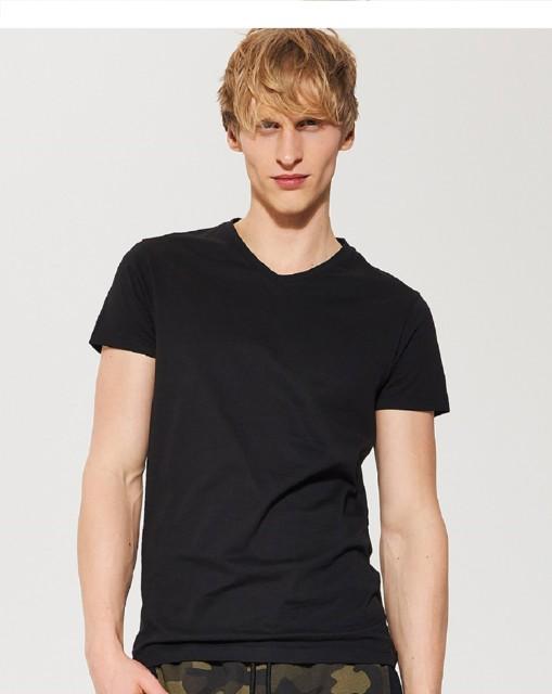 House - Gładka koszulka basic - Czarny