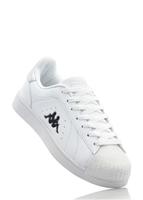 Sneakersy Kappa bonprix biało-srebrny
