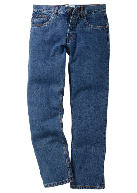 Dżinsy Regular Fit Straight bonprix niebieski