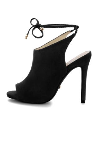 Czarne zabudowane sandały na szpilce ABRIOLA