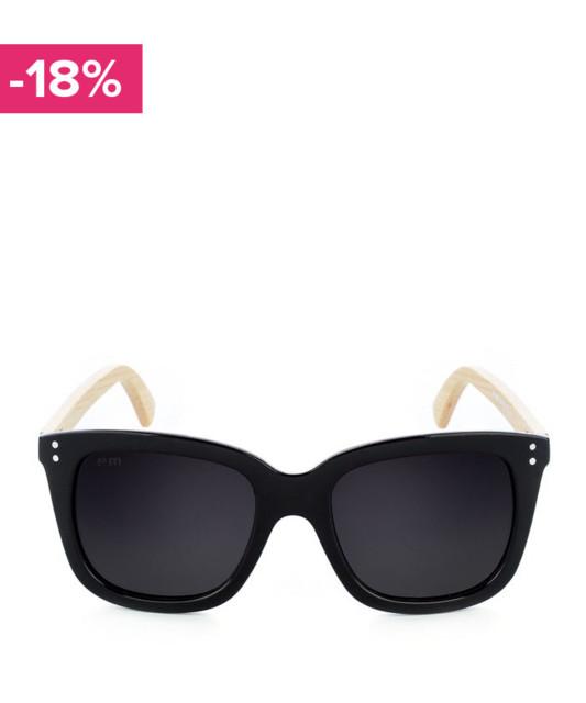 Okulary przeciwsłoneczne z czarnymi kwadratowymi szkłami