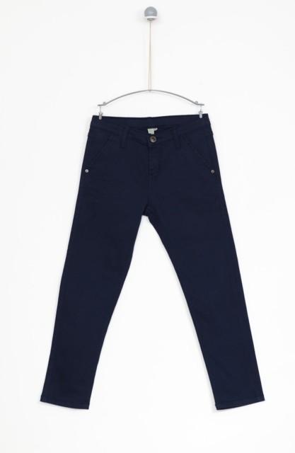 Spodnie dresowe dla małych dziewczynek JSPDD104z - szary melanż