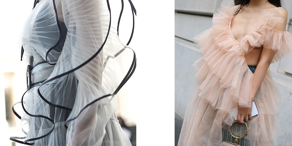 sukienki na wesele falbany