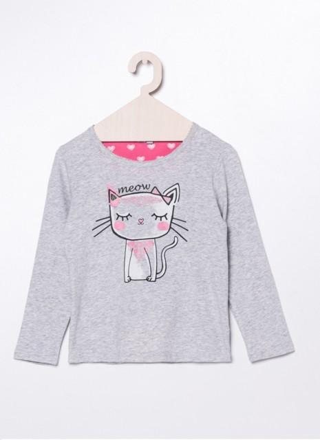 """Dziewczęca piżama """"Meow"""" w serduszka"""