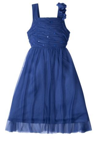 e537af0062 Cudowna biała sukienka z błękitną koronką i kryształkami
