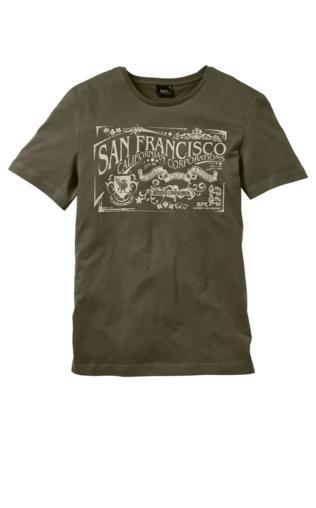 T-shirt Regular Fit bonprix ciemnooliwkowy