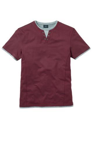 T-shirt 2 w 1 Regular Fit bonprix bordowy