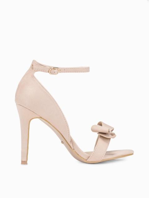 Sandały na szpilce beige LR268