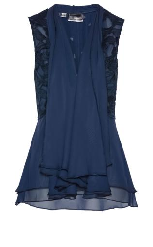 c1c1319d Kamizelka bluzkowa z koronką bonprix ciemnoniebieski