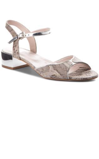 2d90e4c5 VENEZIA Złote sandały na wysokim koturnie - 9054 MAM CAST Sandały -  {Shoperia} Venezia