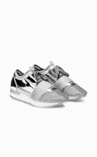 Srebrne buty sportowe LR116