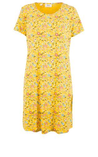 4aafac502d Sukienka shirtowa bonprix beżowy w kwiaty Sukienki -  Shoperia  Bonprix