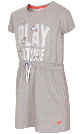 26c3e13de2 Spódniczka dresowa dla dużych dziewcząt JSPUD202 - szary melanż Dziecko -   Shoperia  4F JUNIOR