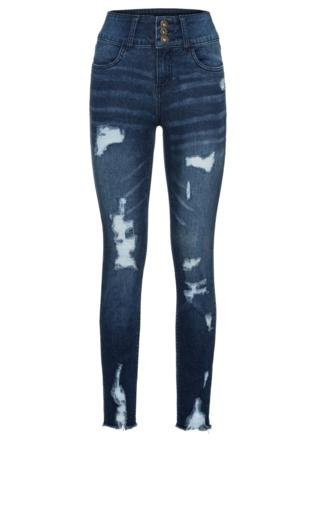 558a92075ad3 Britta Black Step Hem Skinny Jeans Jeansy z dziurami -  Shoperia  Missy  Empire