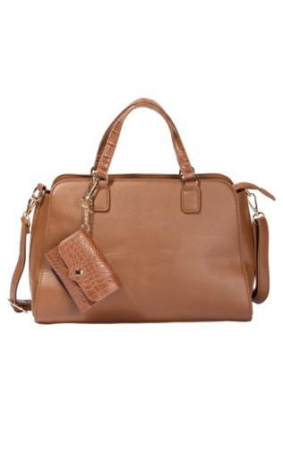 fdafd38d61b95 Szara klasyczna torebka ze skóry licowej BADINO Torebki i torby -  {Shoperia} PRIMAMODA
