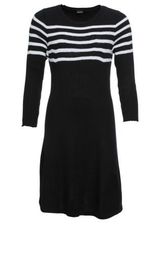 3d52335960 Sukienka w paski bonprix czarno-pomarańczowo-szary w paski Sukienki -   Shoperia  Bonprix