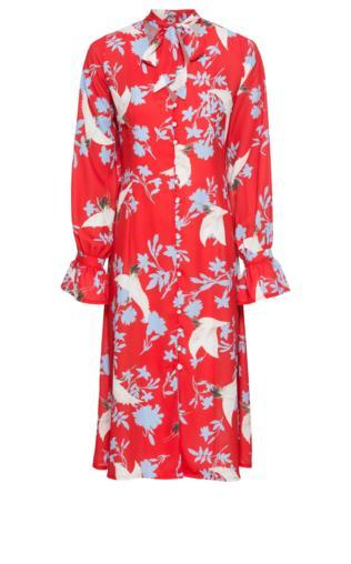 55ab363ba92 Sianna Red One Shoulder Slit Midi Dress Sukienki midi -  Shoperia  Missy  Empire