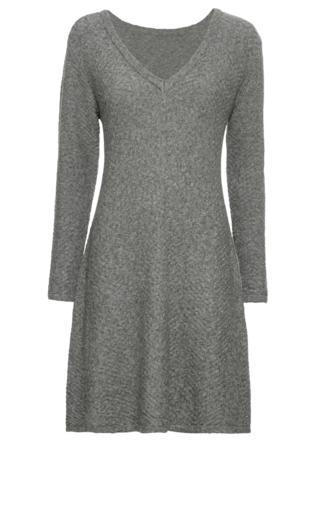 9660d9ad84 Sukienka dzianinowa w gwiazdy bonprix szary melanż - srebrny Sukienki -   Shoperia  Bonprix