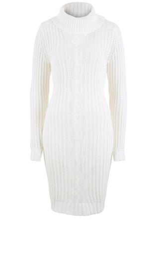 8b7e4988db Sukienka dzianinowa oversize bonprix biel wełny Sukienki -  Shoperia   Bonprix