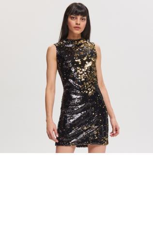 98542ad003a96f Reserved - Cekinowa sukienka - Czarny Sukienki - {Shoperia} Reserved