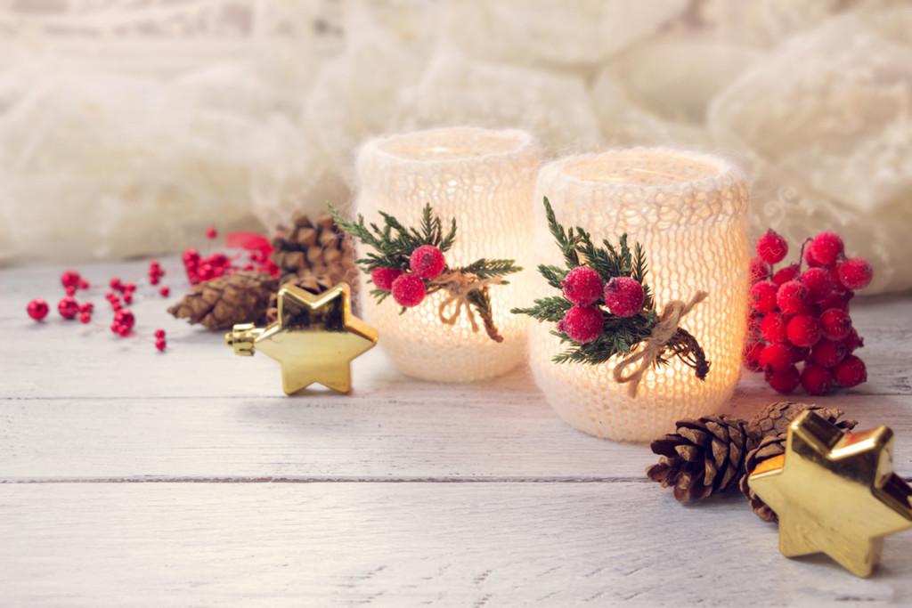 świeczniki świąteczne