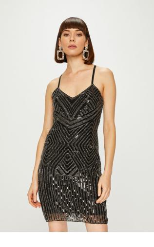 a230cfdb63 Biała sukienka za kolano 336 -1 Sukienki na imprezę -  Shoperia  Lejdi