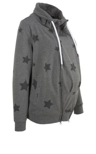 a6a0140d45178e Bluza rozpinana ciążowa z wstawką niemowlęcą na nosidełko bonprix szary  melanż - szary łupkowy Bluzy i swetry - {Shoperia} Bonprix