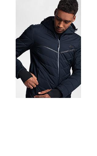29f7779cb Kurtka narciarska męska KUMN163 - niebieski ciemny Kurtki narciarskie i  snowboardowe - {Shoperia} 4F