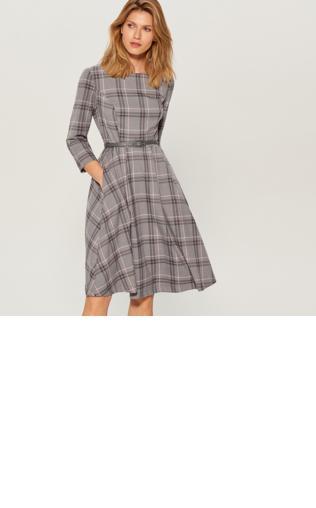 65f0c7130a Mohito - Sukienka midi z paskiem - Niebieski Sukienki -  Shoperia  Mohito