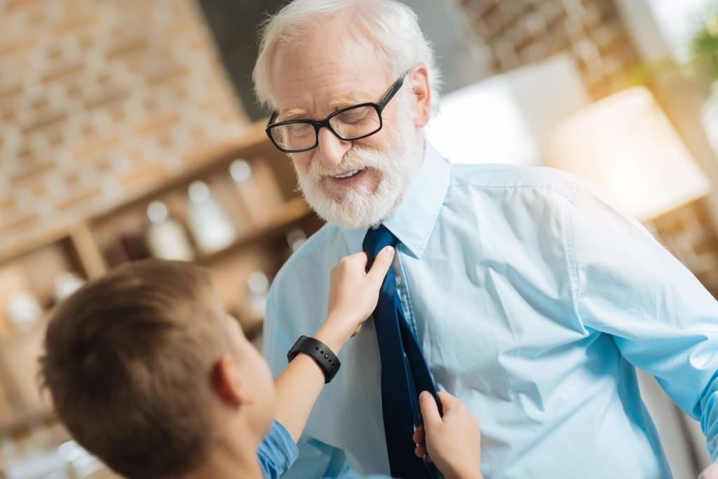 Krawat poszetka