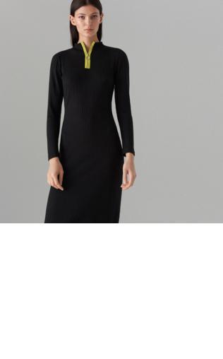 614f60543e Mohito - Dopasowana sukienka z prążkowanej dzianiny - Szary Sukienki -   Shoperia  Mohito