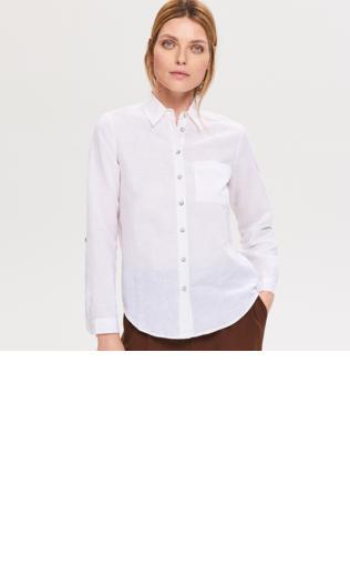 a9ec8901c86e8 Kategorie produktów - Shoperia.pl - Reserved - Bluzka z lnu i bawełny -  Khaki