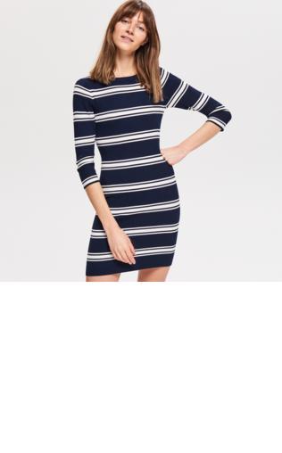 3c6cc3ff7ba9 Dopasowana sukienka z dzianiny Sukienki dzianinowe -  Shoperia  ORSAY