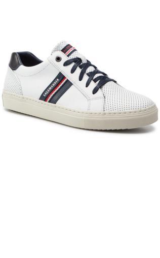 2b369b5a4c44c Sneakersy TOMMY HILFIGER - Unlined Low Cut Leather Sneaker FM0FM01627 White  100 Półbuty i mokasyny - {Shoperia} Tommy Hilfiger