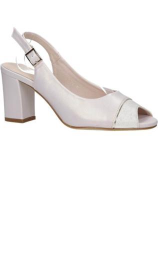 6a256c19dc583 Sandały Sergio Leone Czarne sandały na słupku kropki 3831 Sandały -  {Shoperia} Sergio Leone