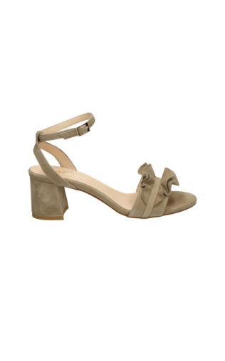 1950e6b90b58b VENEZIA Beżowe sandały ze skóry zamszowej - 28114 CAM BEI Sandały -  {Shoperia} Venezia