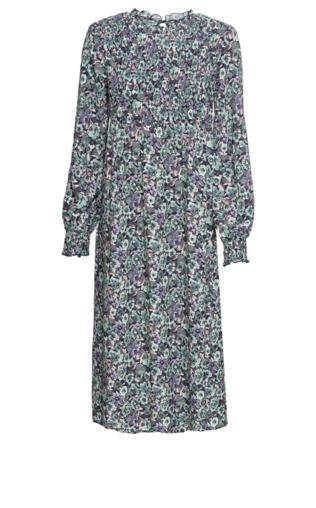 54c6e599 Sukienka midi bonprix ciemnoniebieski w kwiaty