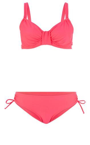 8aba24d4faaf73 Bikini na fiszbinach (2 części) bonprix czerwony koralowy Stroje kąpielowe  - {Shoperia} Bonprix